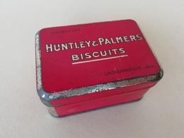 Boite Publicitaire Ancienne En Tôle échantillon Huntley & Palmers Biscuits - Other