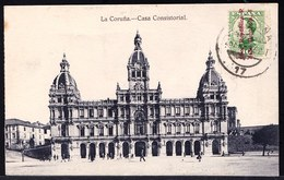 1932 OLD CPA ** LA CORUNA - CASA CONSISTORIAL ** RARE !! Expédiée Vers Mr. Magnette à Bruxelles - La Coruña