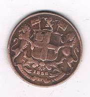 ONE QUARTER ANNA 1858 INDIA /4094// - Inde