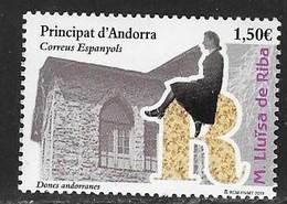 SPANISH ANDORRA, 2019, MNH, FAMOUS ANDORRAN WOMEN, LLUISA DE RIBA, ARCHITECTURE, 1v - Famous People