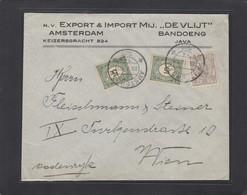 "N.V. EXPORT & IMPORT MIJ ""DE VLIJT"". AMSTERDAM & BANDOENG. BRIEF NACH WIEN. - Lettres & Documents"