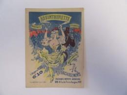 "Chromo Publicitaire ""ABSINTHINETTE"" Paris - Chromos"
