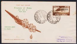 Trieste AMG-FTT PA 21 FDC Venetia Posta Aerea (04974) - 7. Trieste