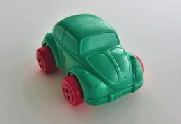 Vintage VINYL TOY CAR : Maker VIKINGPLAST SWEDEN - No. 4293 VW BEETLE - 7.00cm - 19XX - Rubber - Voitures, Camions, Bus