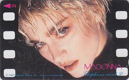 Télécarte Japon / 110-28362 - Musique - MADONNA - Japan Music Star Phonecard - Musik Telefonkarte - 47 - Personen