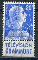 FRANCE N°1011Bd 20 F BLEU MARIANNE DE MULLER - Advertising