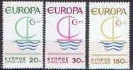 Cept 1966 Chypre Cyprus Yvertn° 262-64 *** MNH   Cote 9,00 Euro - 1966