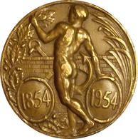 ESPAÑA. MEDALLA 1er CENTENARIO CUERPO DE AYUDANTES DE OBRAS PÚBLICAS. 1.954. BRONCE. ESPAGNE. SPAIN MEDAL - Profesionales/De Sociedad