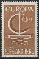 Cept 1966 Andorre Français Andorra Yvertn° 178 *** MNH   Cote 3,70 Euro - Andorre Français