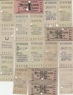 Lot 17 Ticket De Metro Parisien D Ont 1 Ticket 1ere Classe. (années 40) - Europe