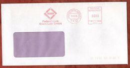 Brief, Francotyp-Postalia F90-6649, Eluco Erwin Lutz, 80 Pfg, Eningen 1988 (73824) - Marcofilia - EMA ( Maquina De Huellas A Franquear)