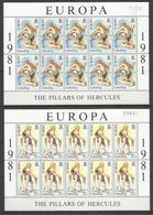 10x GIBRALTAR - MNH - Europa-CEPT - Art - 1981 - Europa-CEPT