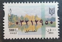 Lebanon 2011 MNH Fiscal Revenue Stamp - 5000L - Taanayel - Lebanon