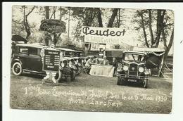 70 - Haute Saone - Jussey - Carte Photo 1ère Foire Expo - Stand Peugeot - 4 Et 5 Mai 1930 - - Frankreich