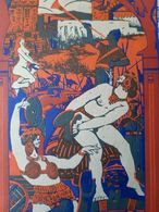 INVITATION BAL QUAT Z ARTS BARS BARS 1913 CARTON ENTREE FEMME ILLUSTREE GIRAUD BARBARES ART DECO BEAUX ARTS ARTISTE - Programmes