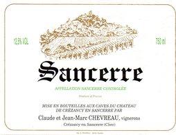 Etiquette (11,9X9)   Sancerre  Claude Et Jean Marc Chevreau  Vignerons  Crézancy En Sancerre ( Cher) - Etiquettes