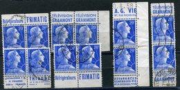 FRANCE N°1011Bb 20 F BLEU MARIANNE DE MULLER  PETIT ENSEMBLE DE PUBLICITES - Advertising