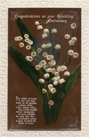 Postcard Congratulations On Your Wedding Anniversary C 1928 My Ref  B13241 - Holidays & Celebrations
