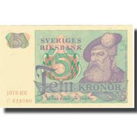 Billet, Suède, 5 Kronor, 1978, 1978, KM:51d, SUP - Suède