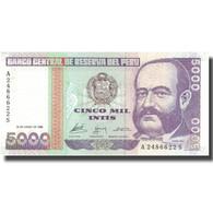 Billet, Pérou, 5000 Intis, 1988, 1988-06-28, KM:137, SUP - Peru