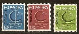 Portugal Cept 1966 Yvertnr. 993-95 (°) Used Cote 5,50 Euro - Oblitérés