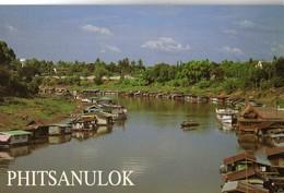 CPM PHITSANULOK( Thailand) Non Ecrite Houseboats Along The Nan River - Thailand