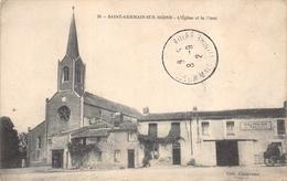 SAINT GERMAIN SUR MOINE - L'église Et La Place - Autres Communes