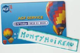 Carte  Assurance  AGF , Montgolfière - Frankreich