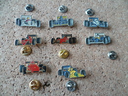 LOT 8  PIN'S    VOITURE  COURSE F1 - F1