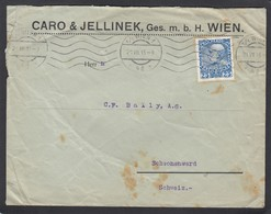 FIRMENLOCHUNF/PERFORATION/PERFIN.CARO & JELLINEK,WIEN (TRANSPORT, BAHN + SCHIFF). - 1850-1918 Empire