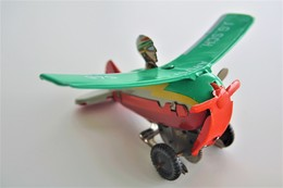 Vintage TIN TOY FLIPPING PLANE WIND UP  - Green J.G.SCH 546 ARTIST  - 8.5cm - WEST GERMANY - 1960 - Friction - Collectors Et Insolites - Toutes Marques