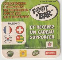 Sous-bocks - Bock : Football , Foot  Bar , Coupe Du Monde ( France-suisse,corée....) - Beer Mats