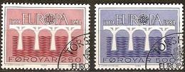 Cept 1984 Féroe Far Oer   Yvert 91-92 (°) Oblitéré Used Cote 4,50 Euro - Europa-CEPT