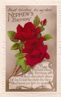 Postcard Best Wishes For My Dear Nephew's Birthday Red Rose [ Rotary ] My Ref  B13243 - Birthday