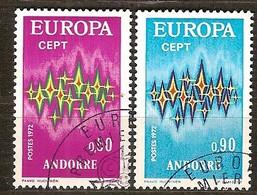Cept 1972 Andorra Andorre Français Yvertnr. 217-18 (°) Used Cote 12,15 Euro - Europa-CEPT