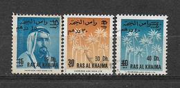 USED STAMPS RAS-AL-KHAIMA  VALUE OVERPRINT - Ras Al-Khaimah