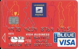 -CARTE+-PUCE-MAGNETIQUE-CB-BANQUE POSTALE-Exp-06/12-OBERTHUR C.S 10/09-TBE-RARE - France