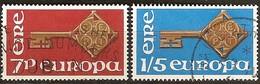 Cept 1968 Ierland Irlande Yvertnr. 203-04 (°) Oblitéré Used - 1968