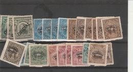 Accumulation Of 1896 Official Overprints Issues El Salvador Unused - El Salvador