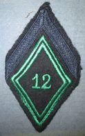 Losange De Bras  12° Régiment De Chasseurs - Ecussons Tissu