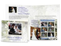 Isle Of MAN 2018 PRINS HARRY MEGAN MARKLE ROYAL WEDDING HUWELIJK  VELLETJE SHEETLET  Postfris/mnh/neuf - Ongebruikt