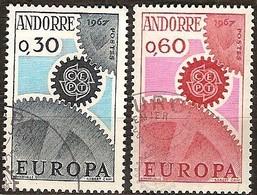Cept 1967 Andorre Français Andorra Yvertnr. 179-80 (°) Oblitéré Used Cote 6,70 Euro - 1967