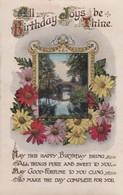 Postcard All Birthday Joys Be Thine My Ref  B13244 - Birthday