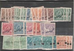 Accumulation Of 1899/1900 Official Overprints El Salvador Unused - El Salvador