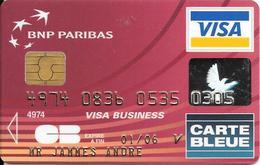 -CARTE+-PUCE-MAGNETIQUE-CB-BNP PARIBAS-Exp-01/06-RUWAPLAST 09/03-TBE-RARE - France