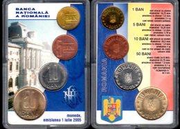 Official Set BNR 1+5+10+50 BANI 2005 / UNC - Roemenië
