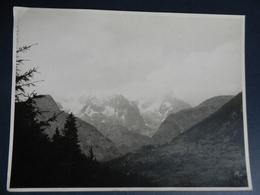 3.1) FOTOGRAFIA ALPI VALLE D'AOSTA MONTE BIANCO VISTO DAL PICCOLO S. BERNARDO 1953 CIRCA - Lieux