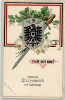 52332450 - Gott Mit Uns - Geburtstag - Wappen - Eicheln - Guerra 1914-18