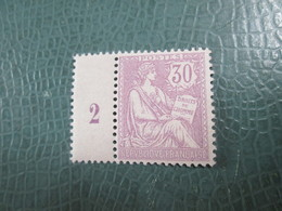 Mouchon 128  . 30 Centimes Violet Sans Charniere . Tres Bon Centrage  .millesime 2 - 1900-02 Mouchon