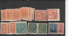Accumulation Of 1899 Dues + 1895 Parcel Post + 1897 Reg Stamp El Salvador Unused Few Spotted Perfs - El Salvador